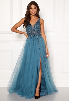 Christian Koehlert Sparkling Tulle Dream Dress Ice Blue Bubbleroom.fi