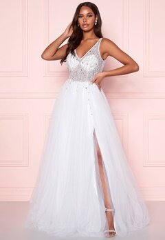 Christian Koehlert Sparkling Tulle Wedding Dress Snow White Bubbleroom.fi