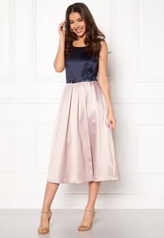 Closet London Midi Dress With Belt Navy/blush Bubbleroom.fi
