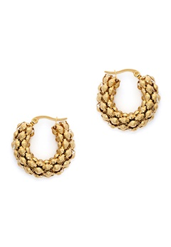 WOS Coco Hoops Earrings Guld Bubbleroom.fi