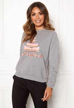 co'couture Cocouture Stripe Sweater 139 Mid Grey Bubbleroom.fi