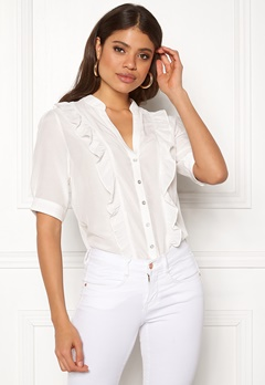 co'couture Essential Frill Shirt Off White Bubbleroom.fi