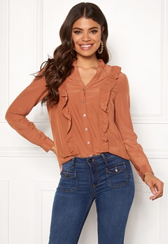 co'couture Florence Frill Shirt Peach Skin Bubbleroom.fi