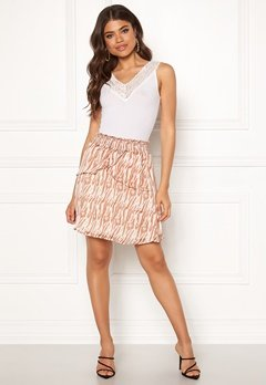 co'couture Golden Tiger Skirt Off White Bubbleroom.fi