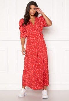 co'couture Springalina Wrap Dress Tomato Bubbleroom.fi