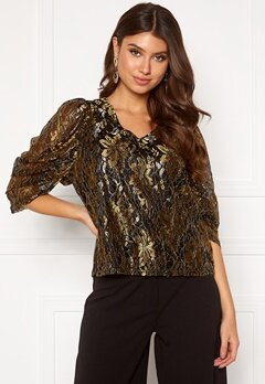 co'couture Turner Lace Blouse Gold Bubbleroom.fi