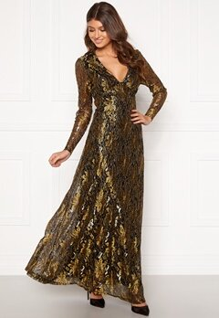 co'couture Turner Lace Dress Gold Bubbleroom.fi