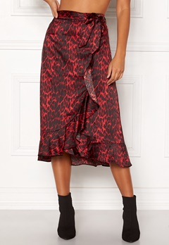 co'couture Red Animal Sateen Skirt Rio Red Bubbleroom.fi