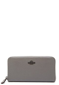 COACH Cordion Zip Around Wallet DKHGR Heather Grey Bubbleroom.fi
