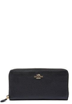 COACH Cordion Zip Around Wallet LIBLK Black Bubbleroom.fi