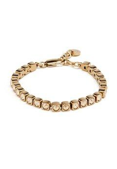 Dyrberg/Kern Cory Shadow Bracelet Shiny Gold Bubbleroom.fi