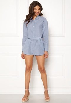 Ivyrevel Cropped Shirt Blue Mix Bubbleroom.fi