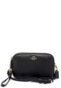 COACH Crossbody Clutch Leather LIBLK Black Bubbleroom.fi