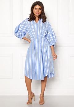 DAGMAR Chloe Dress Blue Stripe Bubbleroom.fi