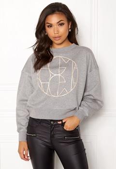 DAGMAR Jam Logo Sweatshirt Grey Melange Bubbleroom.fi