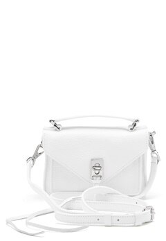 Rebecca Minkoff Darren Group Leather Bag 129 White/Silver Bubbleroom.fi