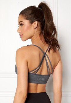 Casall Dashing Sports Bra 921 Dk Grey Melange Bubbleroom.fi