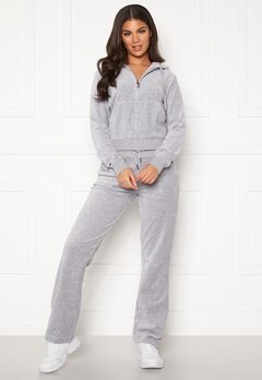 Juicy Couture Del Ray Classic Velour Pant Light Grey Marl Bubbleroom.fi