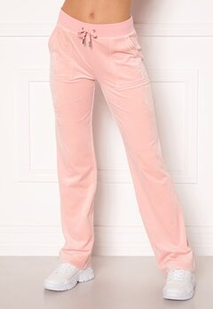 Juicy Couture Del Ray Classic Velour Pant Pale Pink Bubbleroom.fi