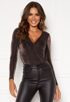 VERO MODA Denise l/s Wrap Body Coffee Bean Bubbleroom.fi