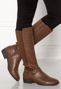 New Look Diandra PU Knee High Shoes Tan Bubbleroom.fi