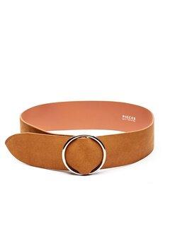 Pieces Docia Suede Waist Belt Cognac Bubbleroom.fi