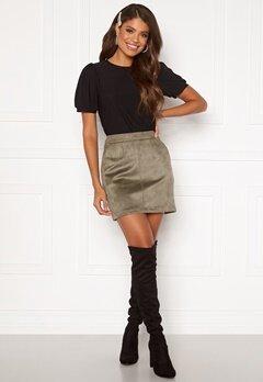 VERO MODA Donnadina Faux Suede Short Skirt Bungee Cord Bubbleroom.fi