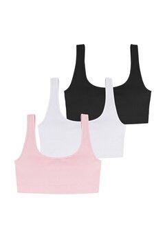 DORINA Flo 3PP Bralette 3X0051- White/Pink/B bubbleroom.fi