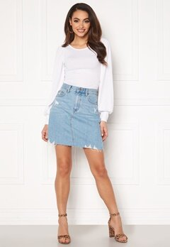 Dr. Denim Echo Skirt F95 Light Blue Bubbleroom.fi