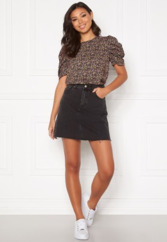 Dr. Denim Echo Skirt T59 Charcoal Black Bubbleroom.fi