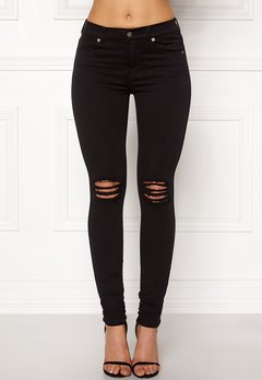 Dr. Denim Lexy Black Ripped Knees Bubbleroom.fi