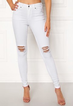 Dr. Denim Lexy White Ripped Knees Bubbleroom.fi
