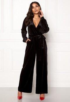 Dr. Denim Lucida Jumpsuit Black Velvet Bubbleroom.fi