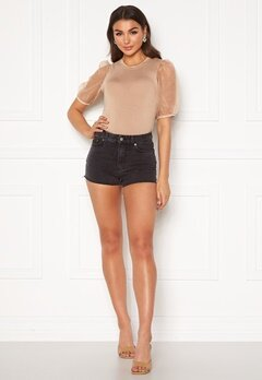 Dr. Denim Skye Shorts Retro Black Bubbleroom.fi