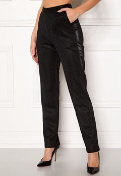 DRY LAKE Abigail Trousers 008 Black Glitter Bubbleroom.fi