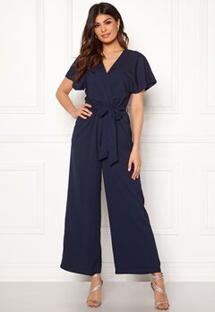 DRY LAKE Ada Jumpsuit Navy Jaquard Bubbleroom.fi
