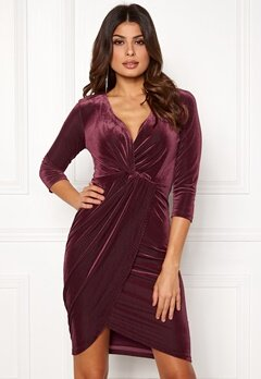 DRY LAKE Angelina Dress 608 Burgundy Bubbleroom.fi