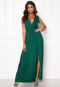 DRY LAKE Callie Long Dress Dark Green Bubbleroom.fi