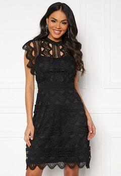 DRY LAKE Ira Dress 040 Black Crochet La Bubbleroom.fi