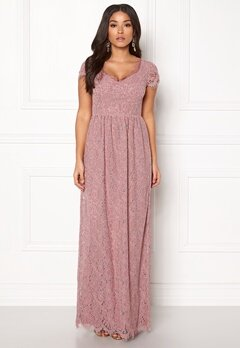 DRY LAKE Kayla Long Dress Dusty Rose Bubbleroom.fi