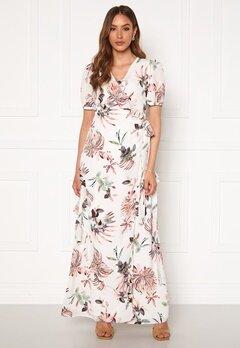 DRY LAKE Kimchi Long Dress 843 White Pink Flowe Bubbleroom.fi
