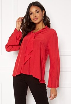 DRY LAKE Malley Blouse 600 Red Bubbleroom.fi