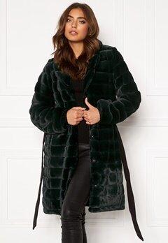 DRY LAKE Mini Bubble Faux Fur Coat 324 Green Faux Fur Bubbleroom.fi