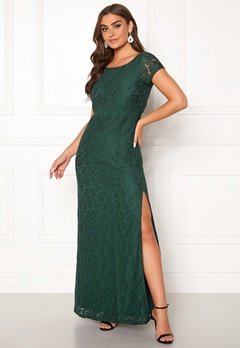 DRY LAKE Mira Long Dress 325 Emerald Green Bubbleroom.fi