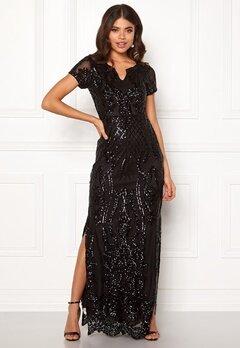 DRY LAKE Miramis Long Dress 001 Black Bubbleroom.fi