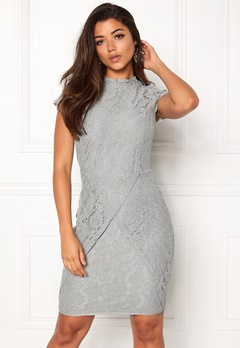 DRY LAKE Mist Overlap Dress Grey Lace Bubbleroom.fi