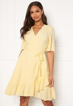 DRY LAKE Nanny Dress 720 Yellow Jacquard Bubbleroom.fi