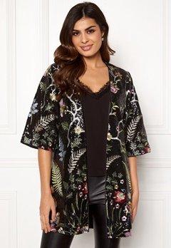 DRY LAKE Paola Kimono 024 Black Garden Bubbleroom.fi