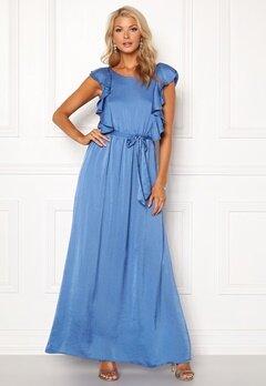 DRY LAKE Rivera Long Dress Royal Blue Satin Bubbleroom.fi