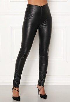 DRY LAKE Sansa Trousers 027 Black Faux Leat Bubbleroom.fi